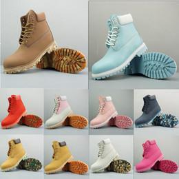 2019 botas de nieve hombres Venta caliente barata TBL Classic Wheat Yellow Men Diseñador Rojo Verde Negro Botas Calidad AAA Multicolor Moda Casual Botas de trabajo de nieve Tamaño 36-46 botas de nieve hombres baratos