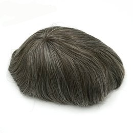 Wholesale thin skin hair wig - Top Hair Wig Hair Piece Mono Lace Thin Skin Mens Hairpieces Toupee Men Cabello Humano Hair Cuts