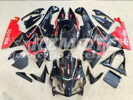 Wholesale Aprilia Rs125 Fairing Set - Injection mold Fairing KIT for Aprilia RS4 125 06 07 08 09 10 11 RS4 RSV 125 2006 2009 2011Black Red ABS Fairings set+3gifts APP5