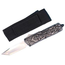 Argentina Cuchillo táctico auto de la fibra de carbono de la calidad superior Cuchillos de bolsillo EDC de la cuchilla bastante rasgada de 440C con la envoltura de nylon cheap tanto knife top quality Suministro