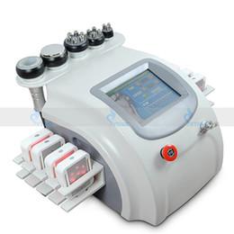 2019 máquinas de vácuo 6in1 radiofreqüência Bipolar RF Vaccum Ultrasonic cavitação remoção de celulite emagrecimento máquina vácuo perda de peso beleza equipamentos máquinas de vácuo barato