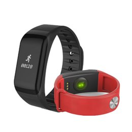 Wholesale Wireless Heart Rate Monitor Sport - Smart Wristband F1 With Blood Pressure Heart Rate Monitor Function Wireless Sports Fitness Tracker For IOS and Android Phone
