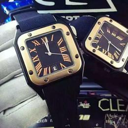 Wholesale Geneva Rubber - Luxury Brand Gold President Day Just Date Geneva Men Diamonds Dial Big Diamond Bezel Automatic Wrist Watch AAA Mens Limited Edition Watches