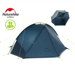 Wholesale Tent Aluminum - NatureHike Taga 1-2 Person Tent Camping Backpack Tent 20D Ultralight Fabric NH17T140-J