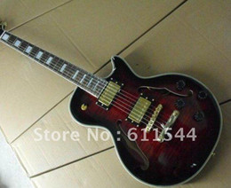 Wholesale Guitar Cherry Hollow - Free Shipping Newest In Stock Hollow Black Cherry Jazz Guitar High Quality Musical instruments
