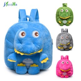 Wholesale Soft Plush Backpacks For Kids - Plush Backpacks Cartoon Dinosaur Plush Sac A Dos Enfant Kindergarten Backpack For Gifts Soft Bag For Children Kids Girls