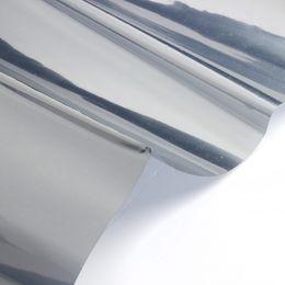 2019 isolierfolienpapier SZS Hot 2M Silber Solar Reflektierende Fensterfolie Papier Isolation Aufkleber One Way Spiegel günstig isolierfolienpapier