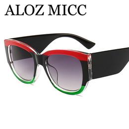 4fa03c5d114d ALOZ MICC Luxury Crystal Cat eye Sunglasses Women 2018 Brand Designer  Vintage Stripes Sun Glasses For Women Oculos UV400 A564