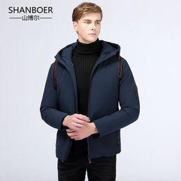 a4c5e980911e 2018 men winter jacket gray duck down parka casual goose feather men s  winter coat hood thick warm waterproof Down jackets
