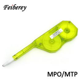 Canada Nettoyant optique de connecteur MPO MTP à action unique pour nettoyer la face d'extrémité de la virole de l'adaptateur MPO / MTP fibre avec broches ou sans goupille supplier fiber optic adapters Offre