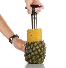 Wholesale kitchen gadgets sell - Pineapple Corer Stainless Pineapple Slicer Peeler Cutter Parer Fruit Apple Knife Creative Kitchen Utensil Gadget 3 Colors Best Selling YW958