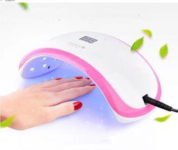beleza jp Desconto Secador de Unhas 36 W Conduziu a Lâmpada Do Prego UV para Unhas Dedo e Toe Nails Unha Polonês Secador com Sensor Branco + Rosa