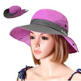 92ef114b86ec3 Women Foldable Bucket Hat New Summer Mesh Breathable Anti-UV Fisherman Hat  Spring Outdoor Camping Climbing Sunscreen Sun Hats
