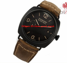 Wholesale Seals Watch - Luxury watch PAM 505 PAM505 PAM00505 Black Seal Composite Manifattura Automatic Movement mens watches Men's watch Wristwatches sport watch