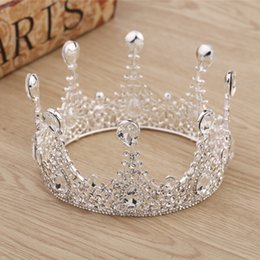 Wholesale Hairs Accesories - 2018 Chic Popular Wedding Crown Bridal Hair Accesories In Stock Sparkle Crystal Rhineston Wedding Hair Accessories Free Shipping