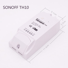2019 controlador de control de temperatura Sonoff TH10 Smart Home Automation WiFi Interruptor inteligente Sensor de temperatura y humedad Control remoto a través de teléfono inteligente rebajas controlador de control de temperatura