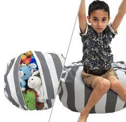 Wholesale Fabric Rooms - Plush Toy Storage Bean Bag 43 Colors Beanbag Chair Stuffed Room Mats Stuffed Soft Pouch Stripe Storage Bean Bag EEA11