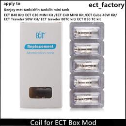 100% Orijinal Yedek Kafa Bobin için EKT elektronik sigara B40 / C30 mini / C40 MINI / Küp 40 W / Gezgin 50 W / 80 W / B50TC Kutusu Mod vape kalem nereden