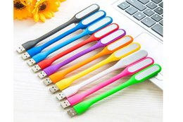 Wholesale usb lamps for laptops - USB LED Lamp Light Portable Flexible Bendable USB Light for Notebook Laptop Tablet Power Bank USB Gadets L301 Free Shipping