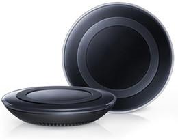 Qi cargador s6 inalámbrico online-Universal Qi Cargador inalámbrico Power Power carga rápida para S6 S6 Edge S7 S7 Edge iPhone 8 X 7 con caja al por menor puede venta caliente