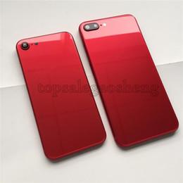 7d15c5f0444 Caja de batería de marco de metal rojo completo Cristal trasero para iPhone  6 6s 6 Plus 7 7 más carcasa de estilo iPhone 8 Full Red