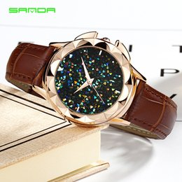 Wholesale womens bracelet pink leather - 2018 Hot Sale Womens Dress Watches Casual Ladies Leather Strap Wristwatches Bracelet Clock Fashion Watch relogio Cheap Jewelry Watch Saat