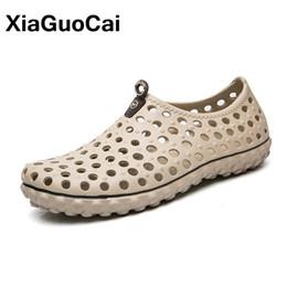 Wholesale Fashion Clogs - XiaGuoCai Summer New Arrival Big Size Men's Clogs Antiskid Outdoor Lightweight assage Men's Sandals Fashion Men Beach Shoes