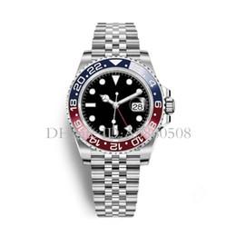 Uhren gmt online-2018 Neueste Neue Modell Luxus Herren Armbanduhr Basel Pepsi / Batman GMT Mechanische Uhr Automatische Herrenuhr