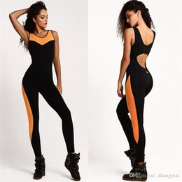 f76ca965a1 Wholesale Free Shipping Fitness Sport Suit Women Tracksuit Backless Gym  Running Sportswear Leggings Tight Jumpsuits Workout Yoga Set