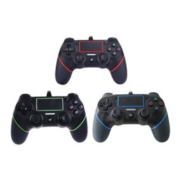 2019 controladores ps4 2018 New PS4 USB Controladores Com Fio Gamepads para PS4 Controlador de Jogo Vibração Joystick Com Fio para PlayStation 4 Console Handle Gamepads controladores ps4 barato