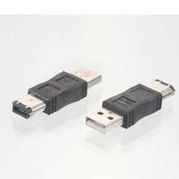 placa de cobre de solda Desconto 1 x Firewire IEEE 1394 6 Pinos para USB 2.0 Conversor Adaptador Macho-NOVO Frete grátis