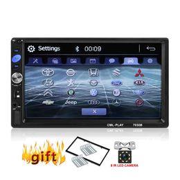 auto armaturenbrett tvs Rabatt 7 Zoll 2 Din In-Dash Auto MP5 Audio Video-Player Freisprecheinrichtung / UKW-Radio / USB / SD / AUX / Fernbedienung / Phonelink
