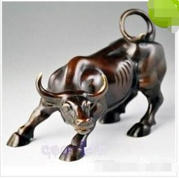 Wholesale Blue Metal Wall Art - Details about Big Wall Street Bronze Fierce Bull OX Statue