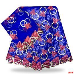 Tissu de couleur bleue avec le brocart de Guinée et le bazin Bazin riche getzner Tissu Barzun riche pour les robes de femme b180814 ? partir de fabricateur