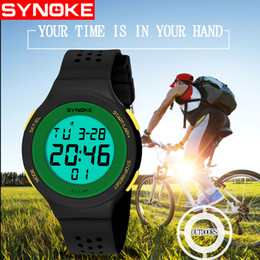 Wholesale waterproof watch alarm - Digital Wristwatches Timer Kids Watches Alarm Chrono Boy Girl Clock 50M Waterproof Sport Children Watch