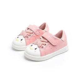 Scarpe da bambina online-NGirls Casual Sneakers Little Kids Shoes Ragazza Flats Cute Cartoon Toddler Baby Girl Sport Scarpe da corsa