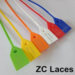 Deutschland Bedruckte Einweg-Kunststoffdichtungen Woven Geflochtene Taschen Sealing Red Strips Gedruckte Zip Tie Lock System für Turnschuhe Schuhzubehör Versorgung
