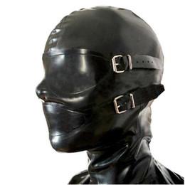 Wholesale Hood Fetish - sexy lingerie design sexy products handmade customize size female women Latex Mask Hoods back zipper Fetish plus size
