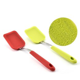 Wholesale V Cameras - Dish brush Expert Hangable Multifunction Silicone decontamination Stainless Steel New Scrub Cleaning brushes Most Cheap 7 8cx V