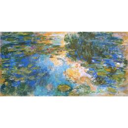stagno di giglio d'acqua Sconti Famoso dipinto ad olio di Claude Monet dipinto a mano Water Lily Pond Canvas art
