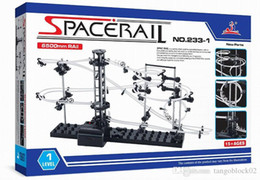 Wholesale Toy Marble Wholesalers - Space Rail Model Building Kit Level 2 Steel Marble Roller Coaster SpaceWarp DIY Spacerail Erector Set 233-1 233-2 Toys for Kids