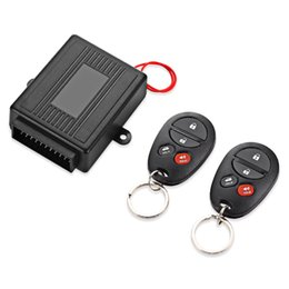 Wholesale Smart Keyless - Universal DC 12V Smart Car Door Lock Unlock Keyless Entry System Remote Trunk Release Button Flashing Alert