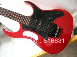 Wholesale guitars floyd - Free shipping Top quality new style IBZ JEM 7V guitar 7V Electric Guitar with floyd rose in red color