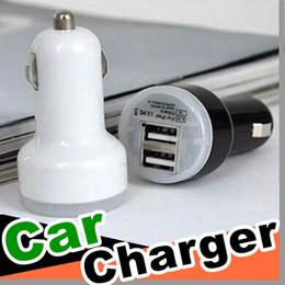 Canada Gros Livraison Gratuite Micro Auto Universel Double USB Chargeur De Voiture Pour iPad pour iPhone 5 V 2.1A Mini Adaptateur 9 Couleur pour le Choix Offre