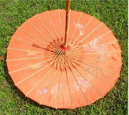 Wholesale 3pcs oil painting - 3pcs oiled paper diameter 82cm silk umbrella hand-painted umbrella craft dancing wholesale
