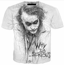 789cf8c7d3e62 Nuevas Parejas de Moda Hombres   Mujeres Unisex Joker Por qué Tan Serio  Divertido 3D Imprimir Sin Gorra Casual Camisetas Tee Top Wholesale QW39
