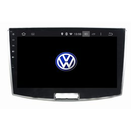 Wholesale dvd car volkswagen - 10.1inch Octa core 4GB RAM Andriod 6.0 Car DVD player for Volkswagen Magotan with GPS,Steering Wheel Control,Bluetooth,Radio