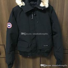 Wholesale Nylon Down Coat - Winter Down Bomber Parka Hoodies Canada Jackets Zippers Brand Designer Jacket Men Chilliwackbomber Warm Coat Outdoor Green Coats Sale
