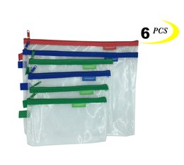 Wholesale A5 File - Kinhshion Plastic Zipper Pouch, Small Organize Bags,12 PCS in A4, A5, A6 Size