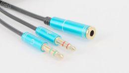 3.5mm Jack Microphone Casque Splitter Câble Audio AUX Extension 2 Mâle A 1 Femelle Câbles Pour Ordinateur Portable MP3 30CM ? partir de fabricateur